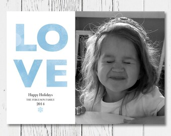 LOVE Printable Holiday Card