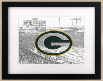 Green Bay Packers StadiumScape Logo Print