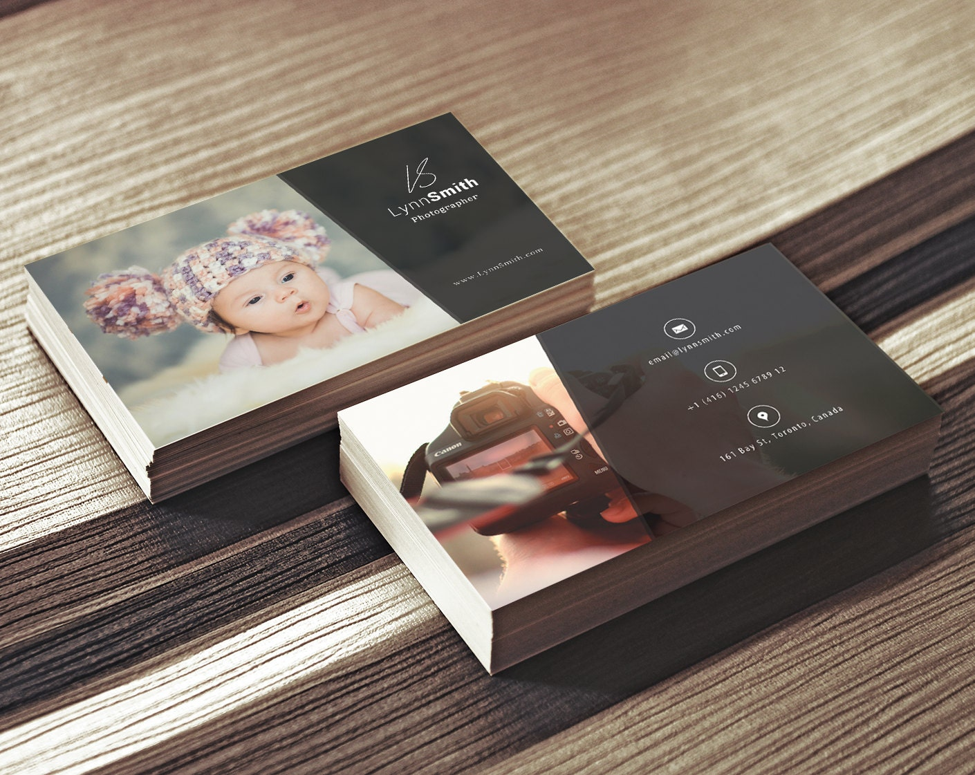 Photographer business card template 2 sided photography zoom magicingreecefo Gallery