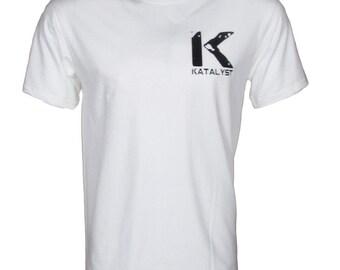 "Katalyst ""Ivy"" Men's White short sleeve crew neck graphic t-shirt"