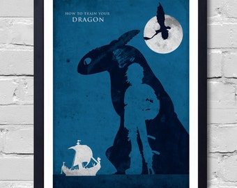 How to Train Your Dragon Minimalist Movie Poster