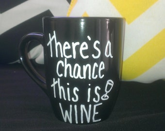 There's a chance this is WINE coffee mug DISHWASHER SAFE