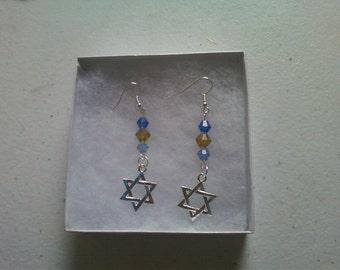 Star of David Beaded Earrings