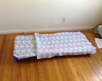Blizzard fleece preschool nap cover and blanket
