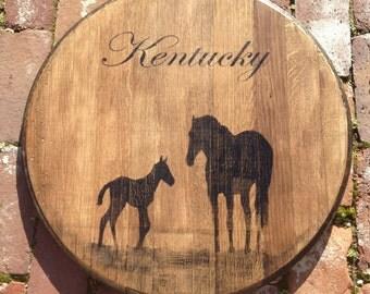 Kentucky Bourbon/Whiskey Barrel Head