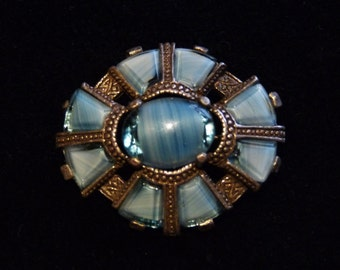 Discounted Yet Again! - Pretty Blue Celtic Miracle Brooch