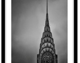 The Chrysler Building, New York  -  Black and White Fine Art Photograph printed on 308gsm Hahnemuhle fine art paper (Unmatted)