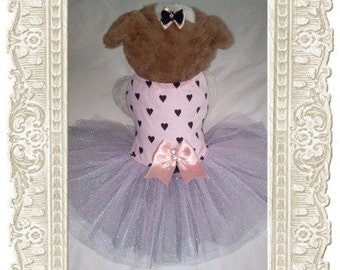 Fashion dog tutu with hair bow