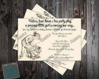 Charlott'e Web Baby Shower Invitation Printable