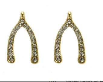Double Sided Fashion Statement Wish bone Earings