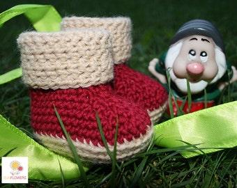 Crochet baby booties handmade gift idea