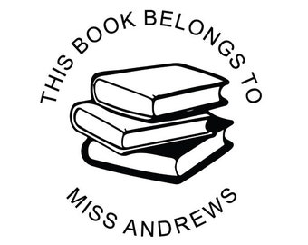 This Book Belongs To Stamp, Book Stamp, Library stamp, Personalized Book Stamp, Teacher Stamp, Librarians Stamp