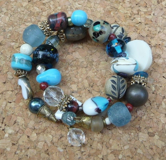 A funky little bit of everything bracelet