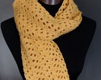 Handmade Scarf- Buttercup Yellow