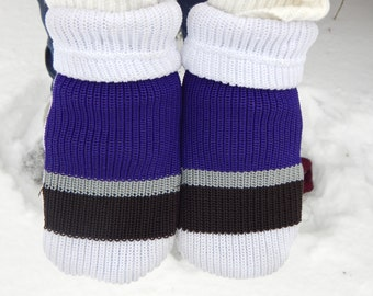 Fleece lined Custom Team Hockey Sock Mittens