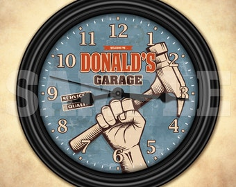 Garage Tools - Man Cave - Personalized Retro-Style Wall Clock - Tool Man