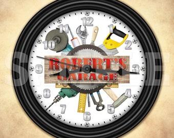 Garage Tools - Man Cave - Personalized Wall Clock - Tool Man