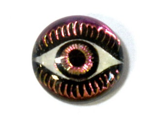12MM Mysterious Eye Fuchsia/Lime Cabochon