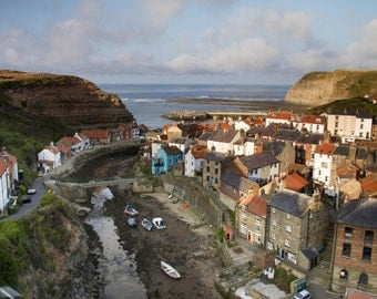 View over Staithes, North Yorkshire