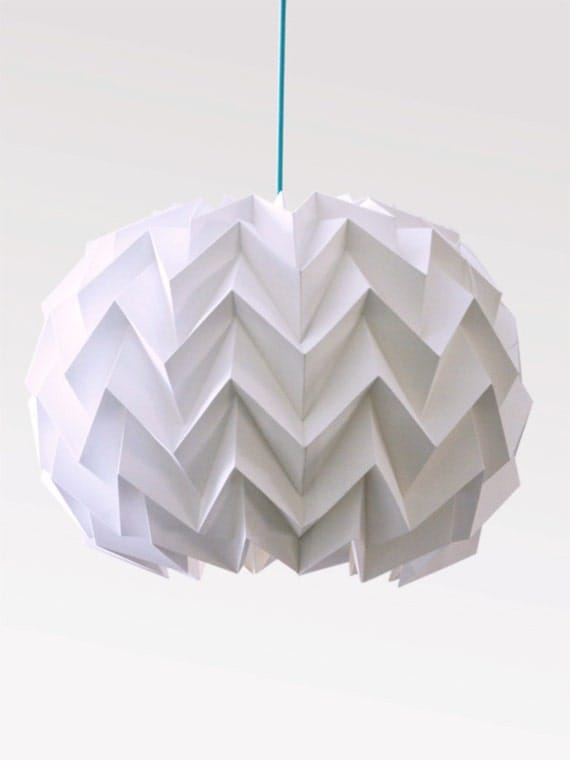 articles similaires lampe de papier origami abat jour en zigzag de la sph re sur etsy. Black Bedroom Furniture Sets. Home Design Ideas