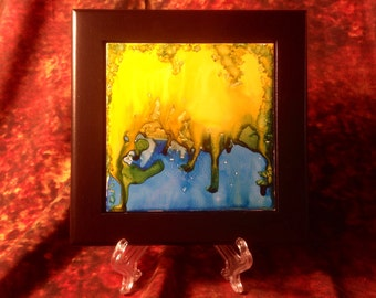 how to make alcohol ink stained glass