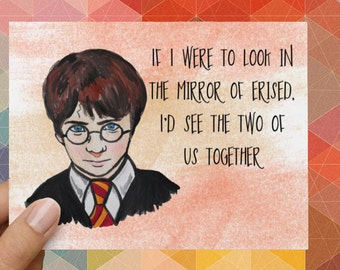 Harry Potter Mirror of Erised Funny Love Card