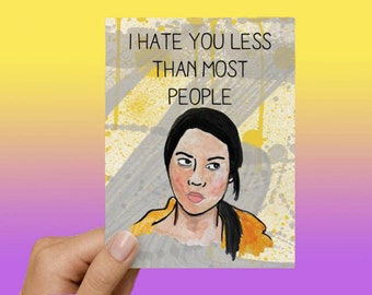 April Ludgate Parks and Recreation Funny Love Card