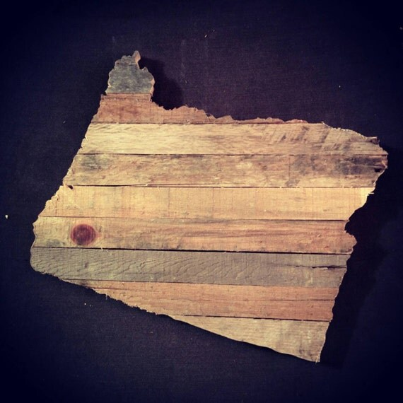 Oregon reclaimed wood cutout by antiquation1 on etsy for Reclaimed wood oregon