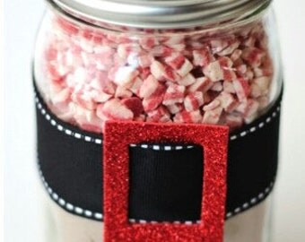 Peppermint Cookies in a Jar