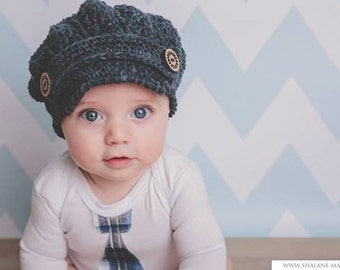 Instant Download Pattern Only-pdf- SLOUCHY NEWSBOY CAP (Newborn to Adult)