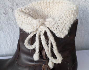Knitted Fashion Boot Cuffs, Fashion Boot Socks, Down Boot CUFFS, Knitted Leg Warmers,  Valentine's, Gift Ideas