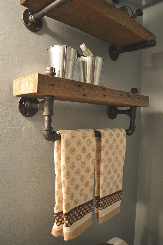 industrial bathroom shelving