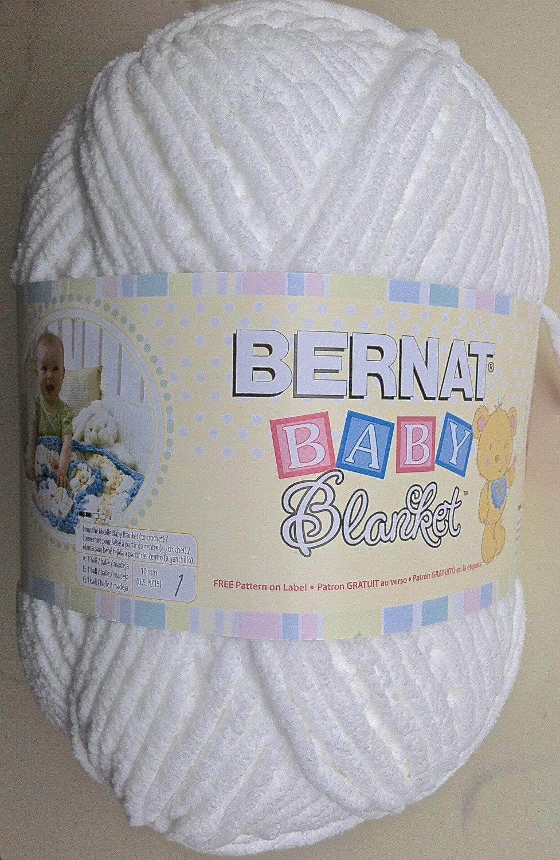 White Bernat Baby Blanket Yarn White 04005 10 5 Oz Skein