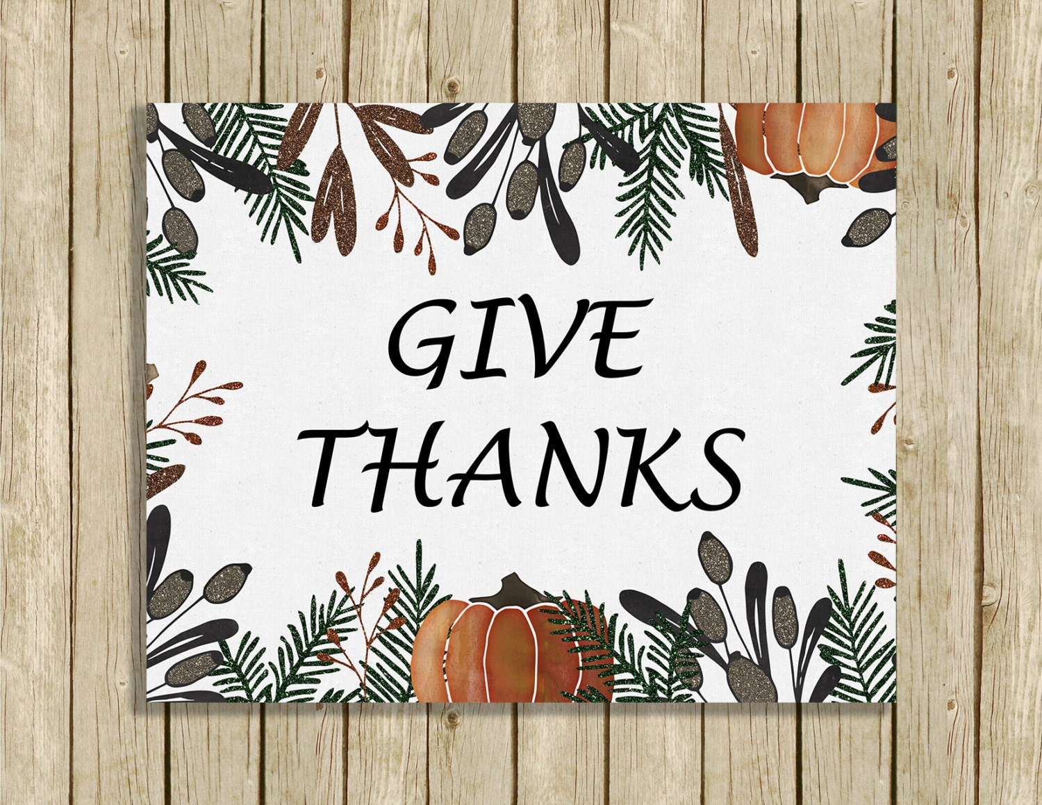 printable Thanksgiving wall art Give Thanks instant download 8