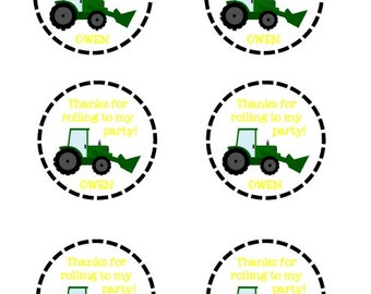 Tractor Thank You Tags