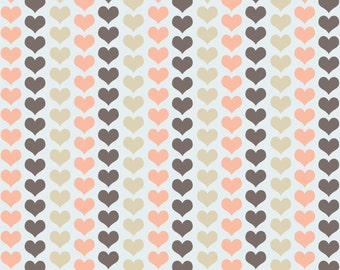 Pastel Hearts Digital Paper - Scapboking Paper - Instant Download