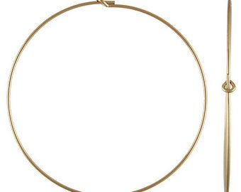 60mm Gold Filled Beading Hoops - 1 pair