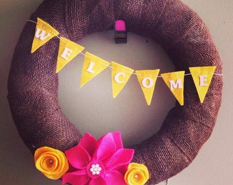 Burlap Wreaths: Made to Order