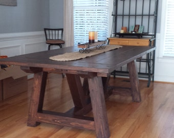 Farmhouse Rustic Dinning Table and Bench