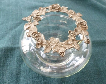 Glass and Pewter Potpourri Dish