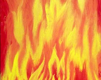 "Consuming Fire by Antonio Romero -16"" X 20"" Acrylic on Canvas"