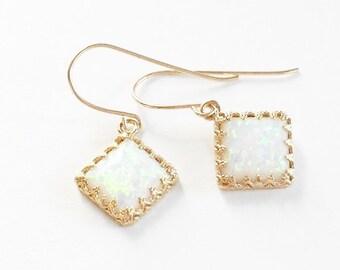 opal earrings, opal gold earrings, dangle opal earrings, opal stone, gold filled earrings, opal jewelry - 120