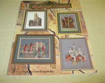 Medieval Castles Counted Cross Stitch Pattern Book