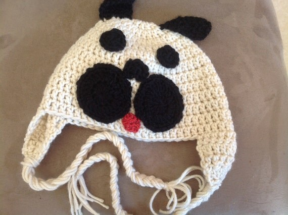 Knitting Pattern For Pug Hat : Pug Crochet Hat
