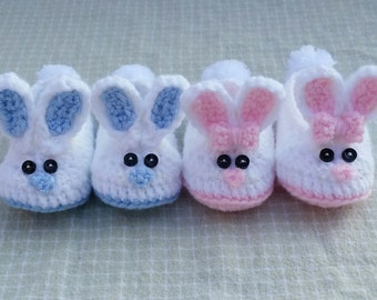 Crochet bunny slippers bunny baby booties baby slippers baby boy slippers baby girl slippers handmade photo prop