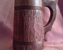 Wooden Beer Mug 0.7 l (23oz),  natural wood,  handmade,  groomsmen gift, Father's day,  beer tankard, Dad,  grooms gift, husband gift.