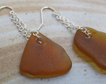 Hawaii Beach Glass Earrings Sterling Silver