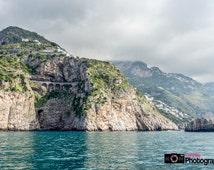 Beautiful Amalfi Coast, Italy Photo, Italian Landscape, Scenery, mountains, ocean, Travel Photography, print, wall art