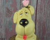 Vintage Dog Bank made by Huron Products 1972