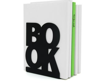 Bookend BookOne Black or White, Modern And Minimalistic Style.